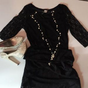Black Lace Lined Dressed . Size M